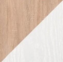 дуб сонома/белый