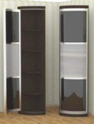 угловой элемент с распашной дверью (полки) 450*450, h 2350