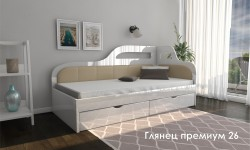 """""""Глянец Премиум 26"""" глянцевая кровать"""