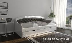 """""""Глянец Премиум 28"""" глянцевая кровать"""